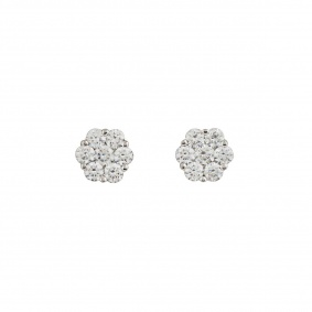 Flower Diamond Earrings 1.40ct